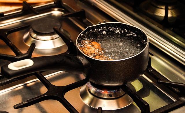 vařící voda