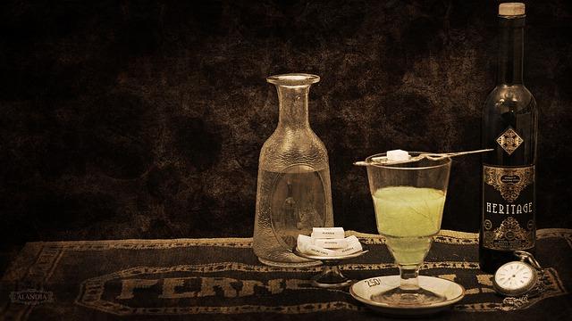 podávání absintu